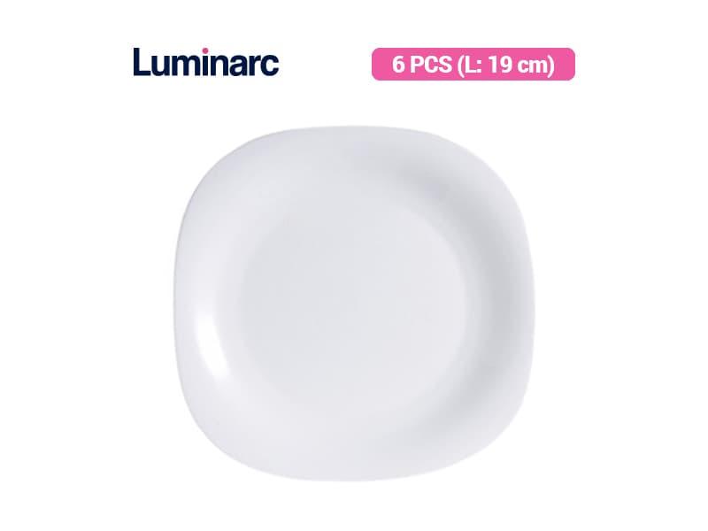 Luminarc Piring Kue Carine White Dessert Plate / 6 pcs