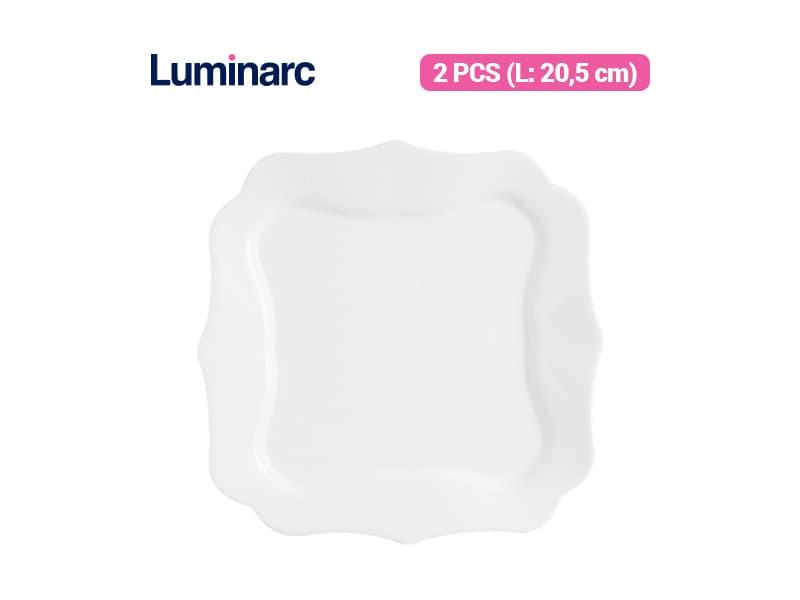 Luminarc Piring Kue Authentic White Dessert Plate / 2 pcs