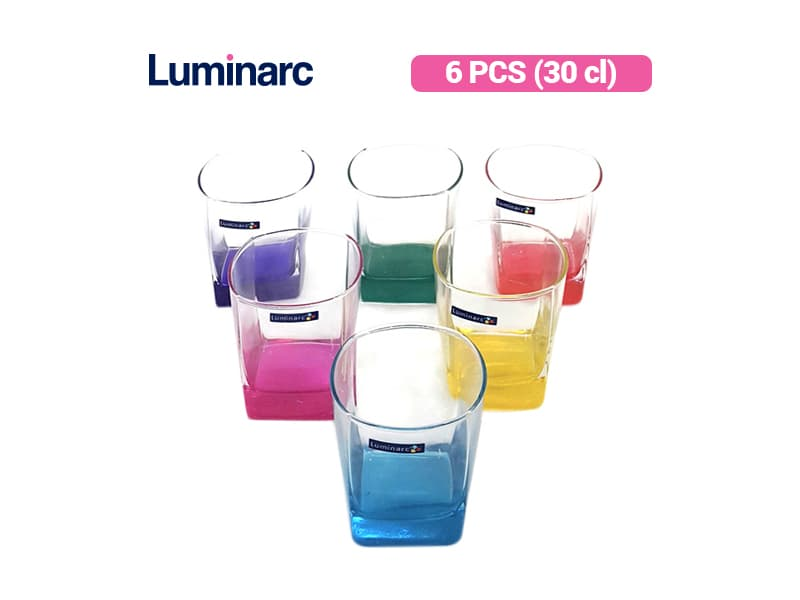 Luminarc Gelas Minum Sterling Rainbow OF 30 / 6 pcs