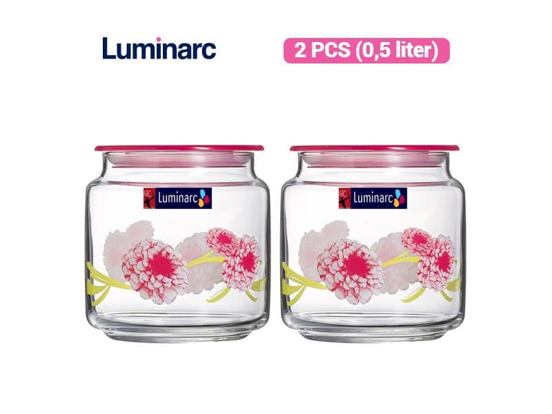 Luminarc Toples Rondo Jar Dahlia 0.5 / 2 pcs