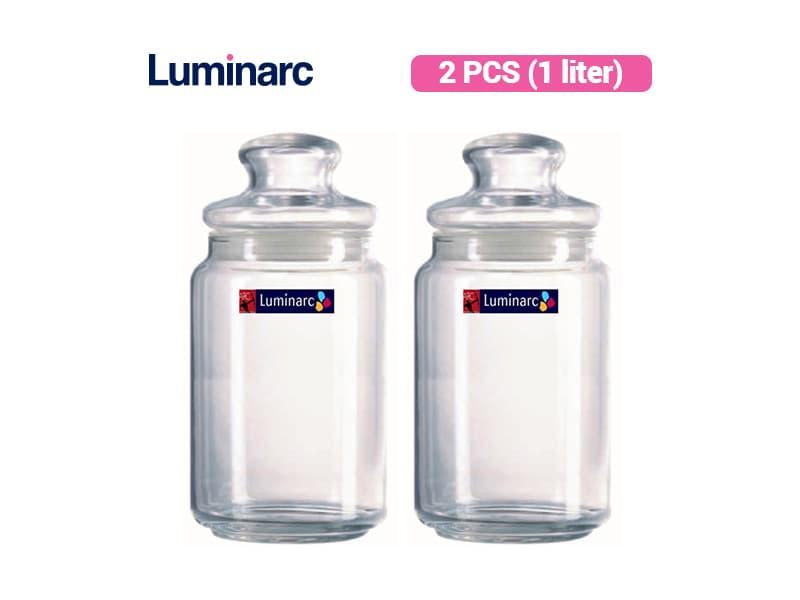 Luminarc Toples Rondo Jar 1 Liter / 2 pcs