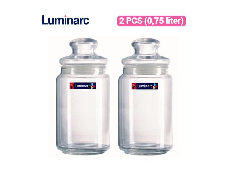 Luminarc Toples Rondo Jar 0.75 Liter / 2 pcs