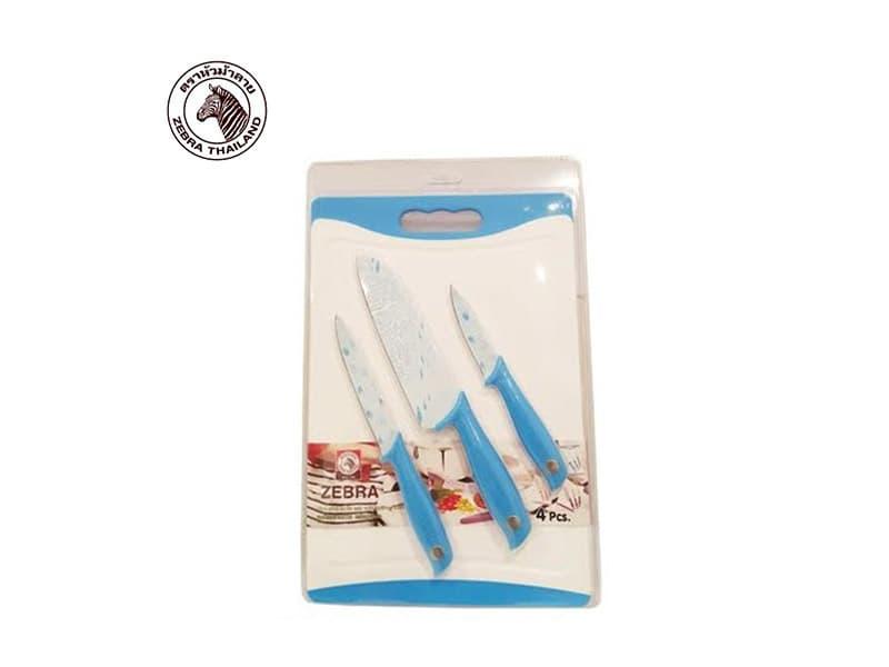 Zebra Pisau dan Telenan Non Stick Sets With Cutting Board/set