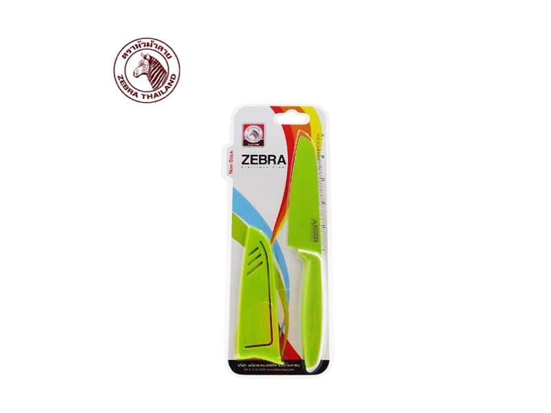 Zebra Pisau (Knife Santoku 5 + Sheath Mixcolor) / pcs