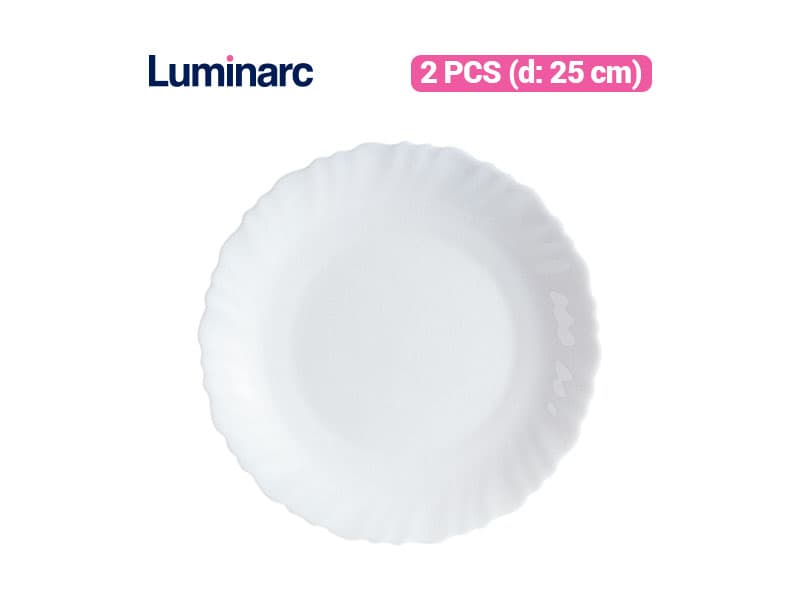Luminarc Piring Makan Feston Dinner Plate 25 / 2 pcs