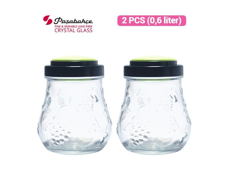Pasabahce Toples Garden Jar 0.6 Ltr / 2 pcs