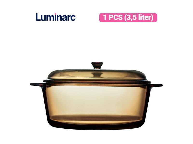 Luminarc Panci Masak Vitroline Amberline Casserole 3.5L /pcs