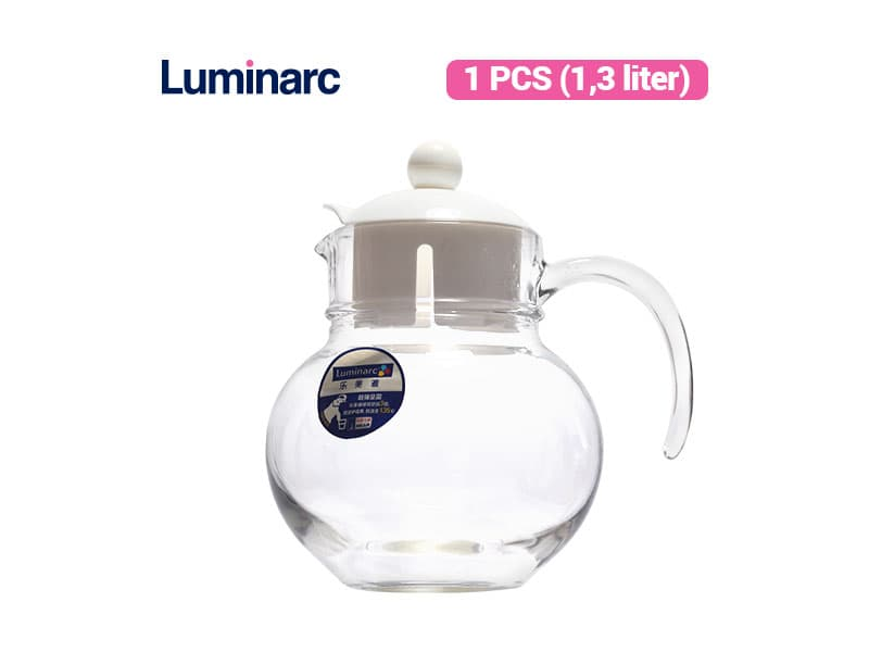 Luminarc Teko Ballon Coffee Pot  1.3 White Lid / pcs