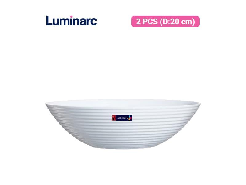 Luminarc Mangkok Harena White 20 Cm / 2 pcs