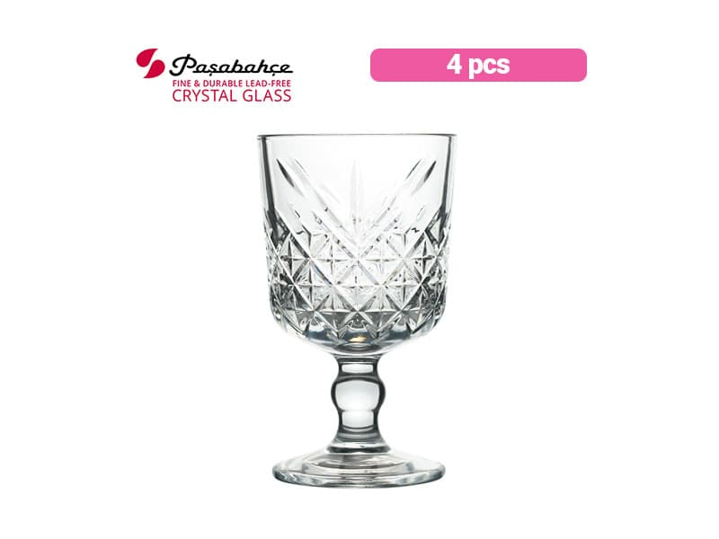 Pasabahce Gelas Minum Berkaki Timeless Wine 32 Cl / 4 pcs