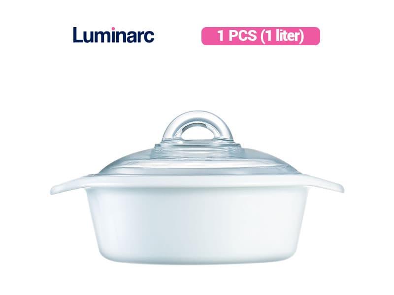 Luminarc Panci Masak Vitroline White Blooming Casserole 1 L /pcs