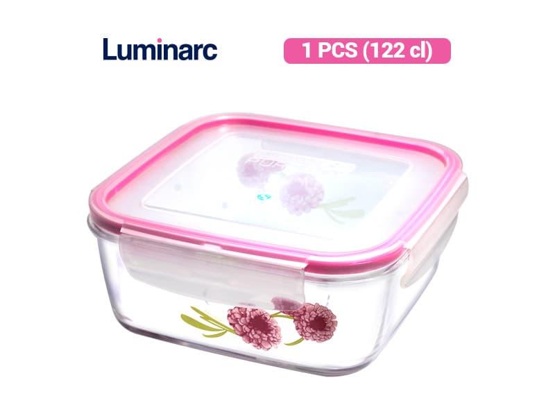 Luminarc Penyimpan Makanan Purebox Dahlia Sqr 122 / pcs