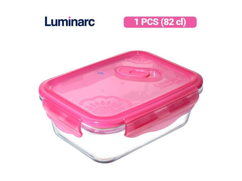 Luminarc Tempat Makanan PureBox Fantasy Dahlia Rect 82 / pcs
