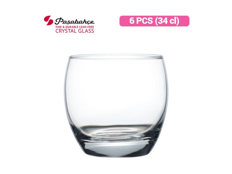 Pasabahce Gelas Minum Barrel Whisky 34 cl / 6 pcs