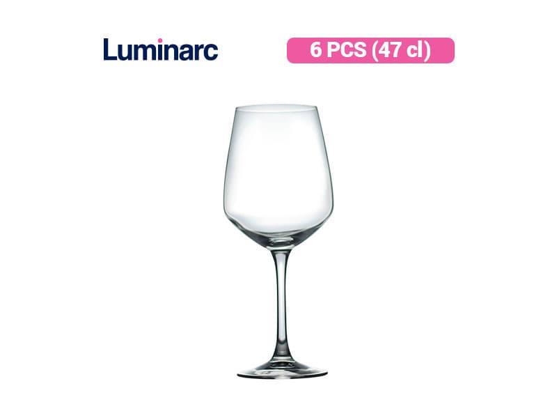 Luminarc Gelas Minum Berkaki Surloire 47 Cl / 6 pcs