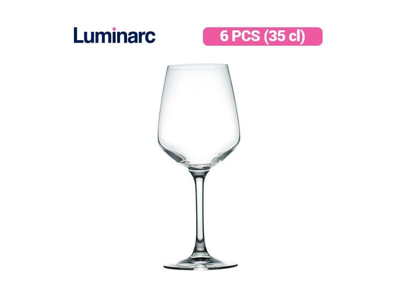 Luminarc Gelas Minum Berkaki Surloire 35 Cl / 6 pcs