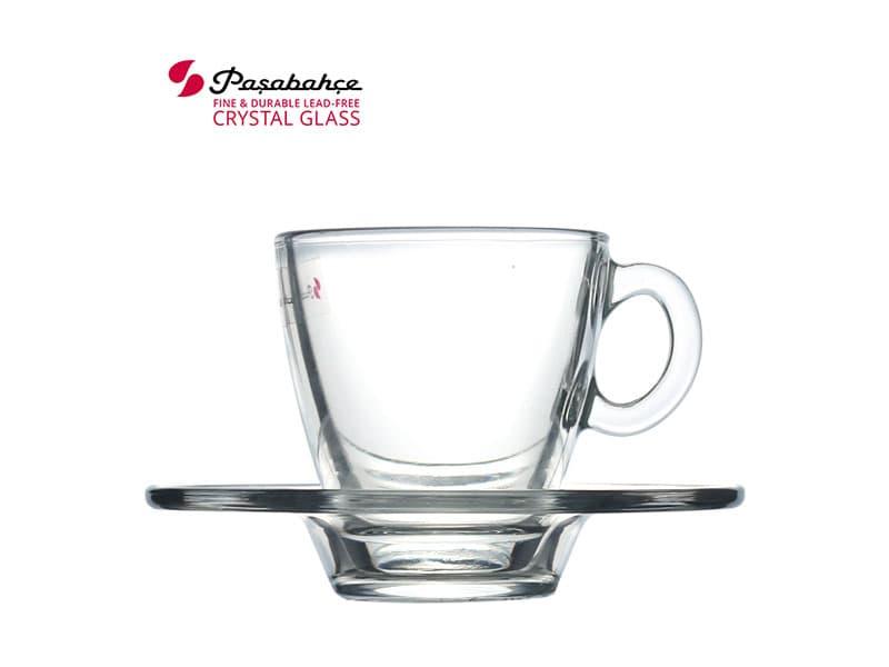 Pasabahce Aqua Cup Saucer / set