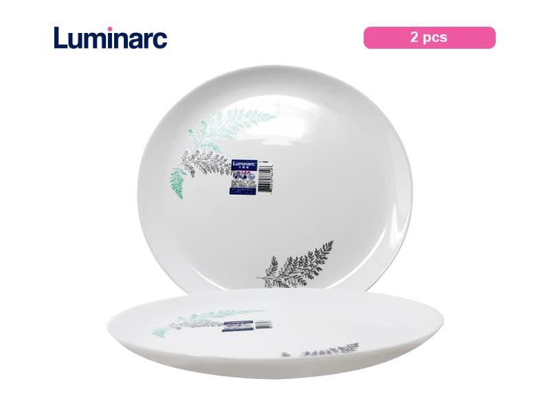 Luminarc Diwali Piring Makan Frost Green Dinner Plate 25 Cm / pcs