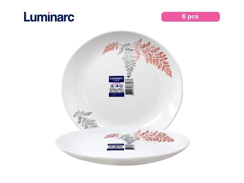 Luminarc Diwali Piring Kue Frost Pink Dessert Plate 19 Cm / pcs