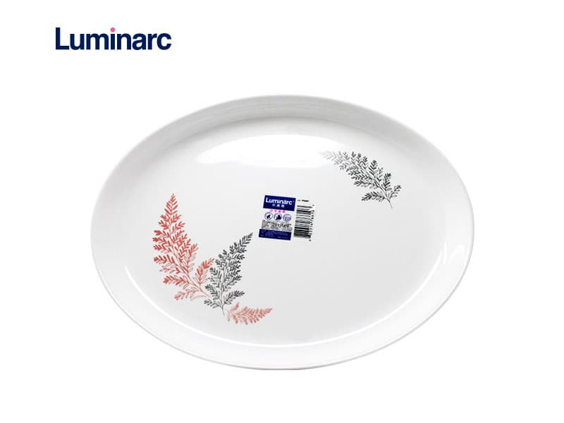 Luminarc Diwali Piring Sayur Oval Frost Pink 28 Cm / pcs