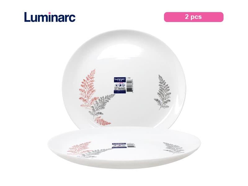 Luminarc Diwali Piring Makan Frost Pink Dinner Plate 25 Cm / 2 pcs