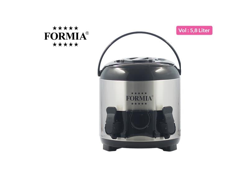 Formia Dispenser 2 Taps 6 liter SS