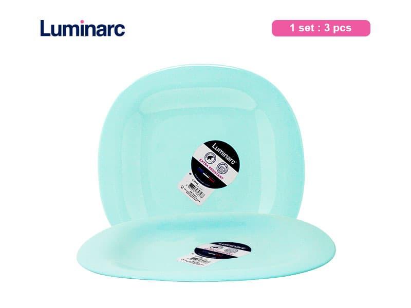 Luminarc Carine Piring Makan Light Turquoise / 3 pcs