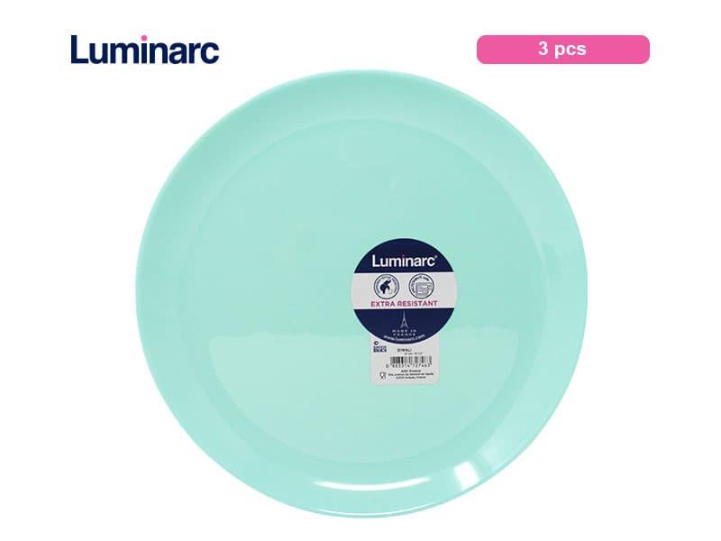 Luminarc Diwali Piring Makan Besar Light Turquoise / 3 pcs