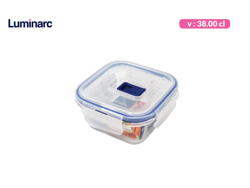 Luminarc Tempat Makan Purebox Square Rim 38 cl / pcs