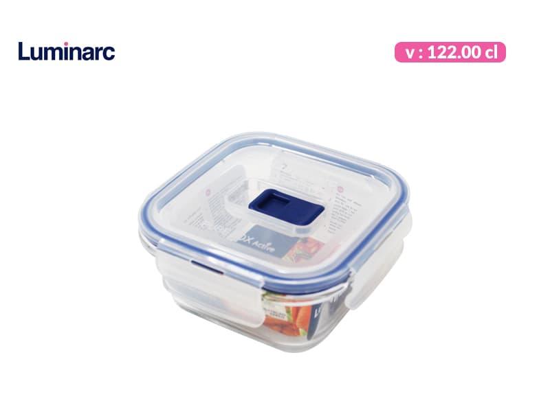 Luminarc Tempat Makan Purebox Square Rim 122 cl / pcs