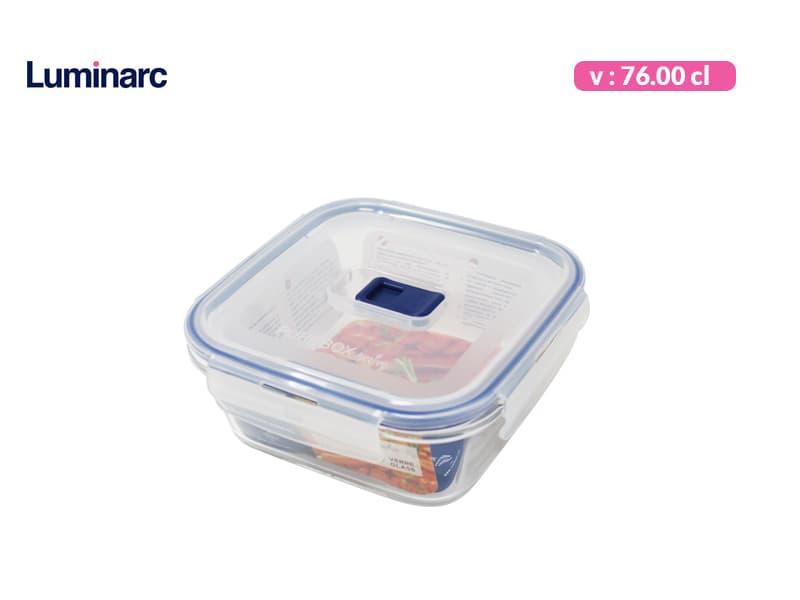Luminarc Tempat Makan Purebox Square Rim 76 cl / pcs