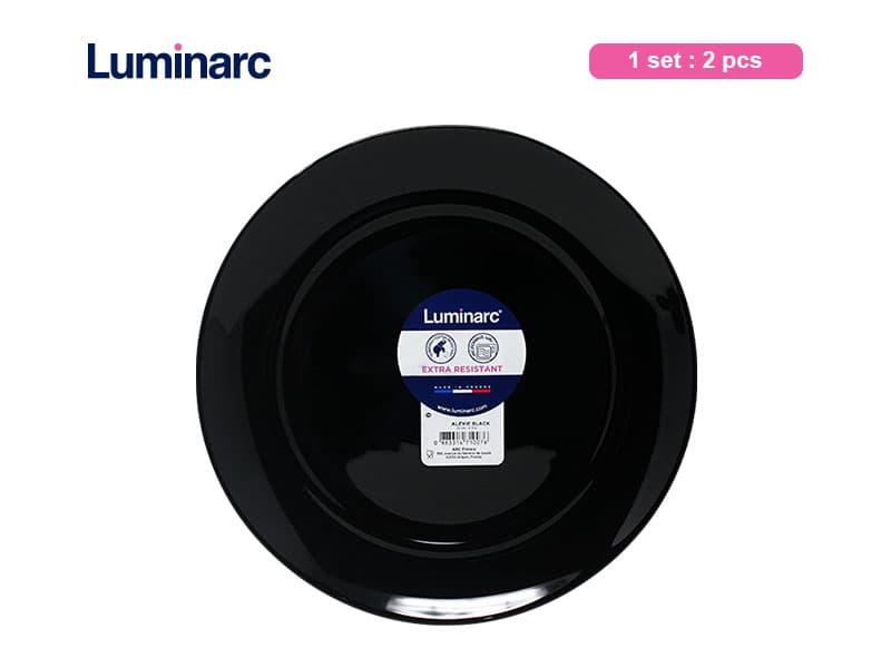 Luminarc Piring Makan Alexie Black Dinner plate / 2 pcs