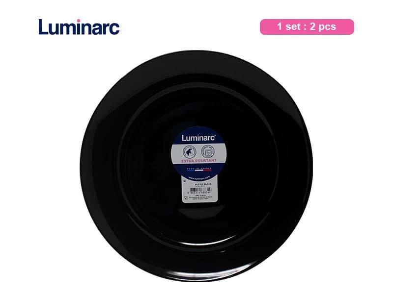 Luminarc Piring Makan Besar Alexie Black Lrg Dinner 27 cm / 2 pcs