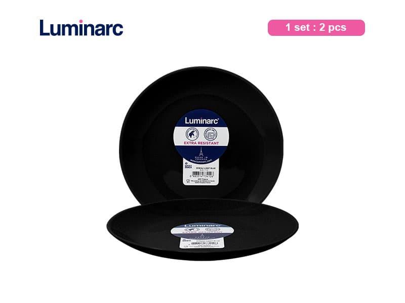 Luminarc Piring Kue Diwali Black Dessert / 2 pcs