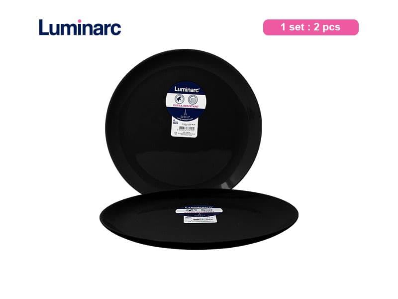 Luminarc Piring Makan Diwali Black Dinner / 2 pcs