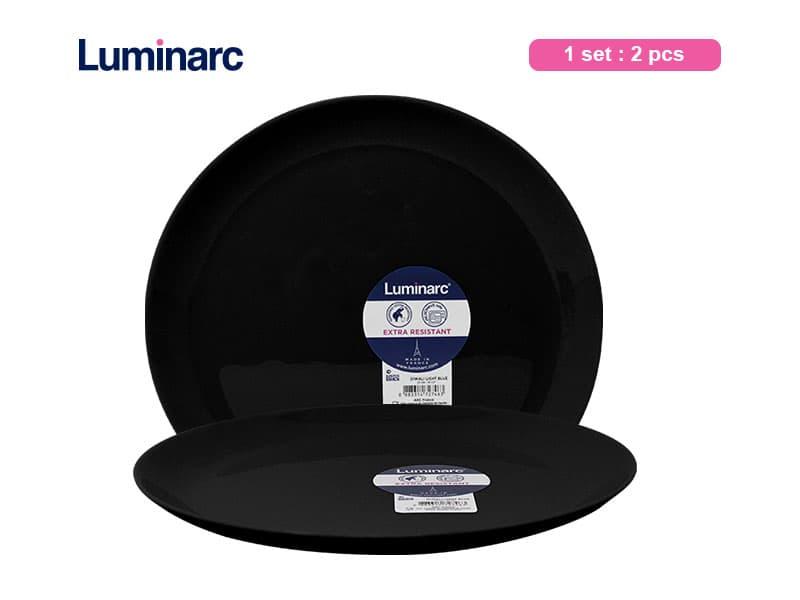 Luminarc Piring Makan Besar Diwali Black Lrg Dinner / 2 pcs