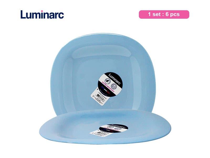 Luminarc Piring Makan Besar Carine Light Blue Lrg Dinner / 6 pcs