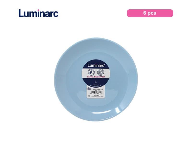 Luminarc Diwali Light Blue Piring Kue / 6 pcs