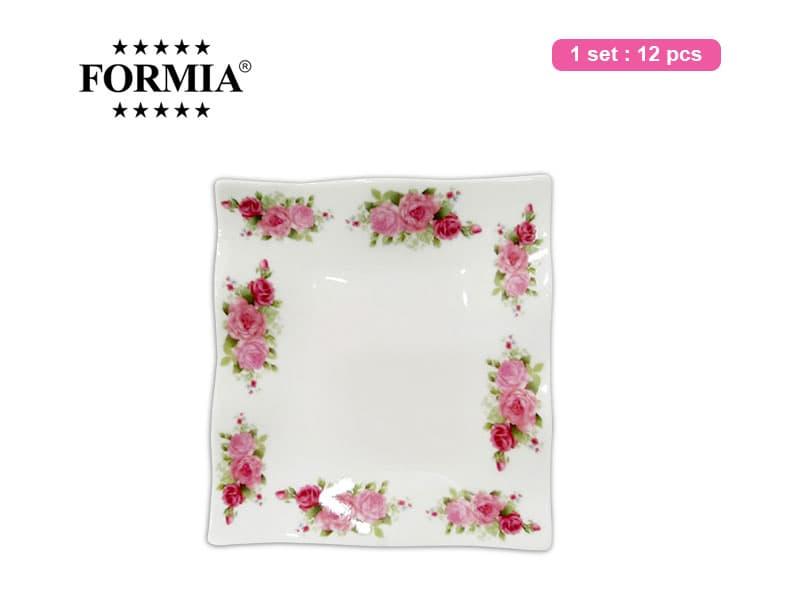 Formia Piring Kue Rose Square 5 Inchi / 12 pcs