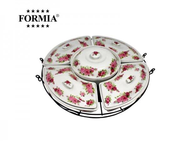 Formia Penyaji Makanan Royal Rose Buffet 19 Inchi / Set