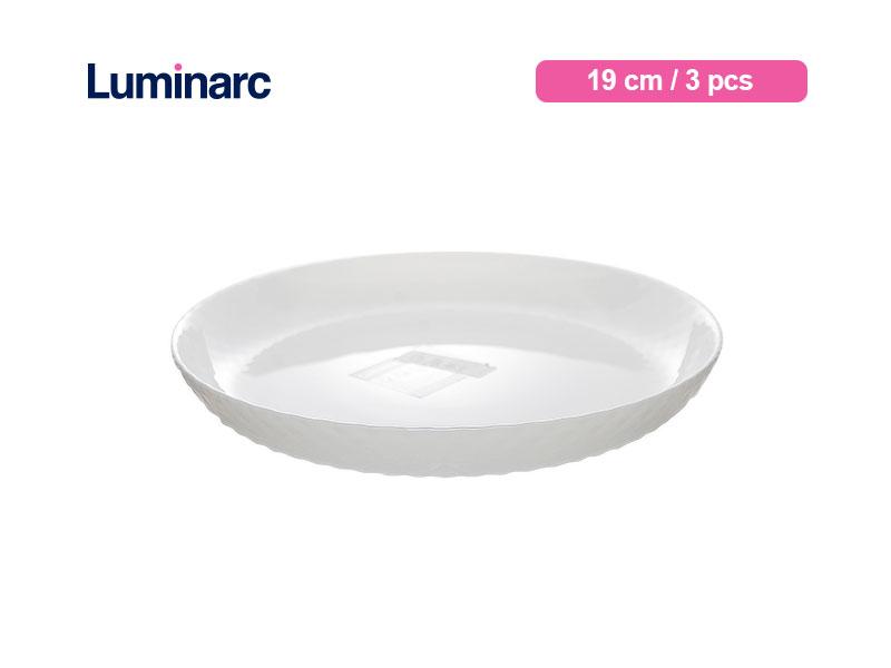 Luminarc Piring Kue Diwali Structure Dessert Plate 19 Cm Precious / 3 pcs
