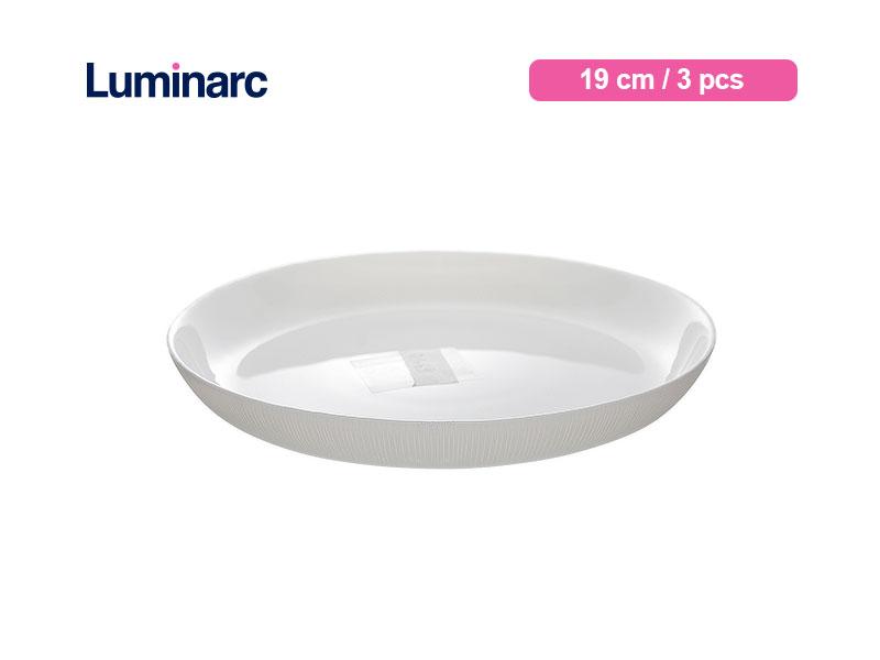 Luminarc Piring Kue Diwali Structure Dessert Plate 19 Cm Lines / 3 pcs