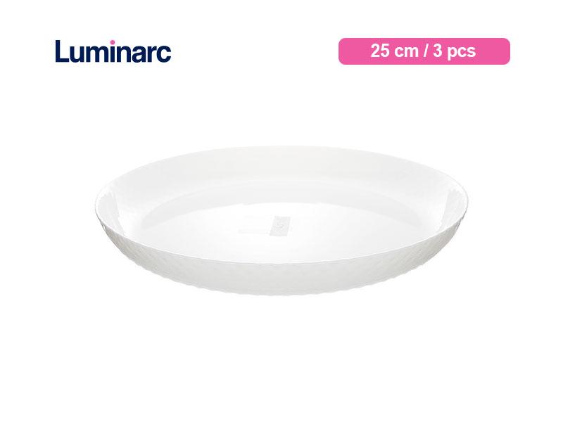 Luminarc Piring Makan Diwali Structure Dinner Plate 25 Cm Lines / 3 pcs