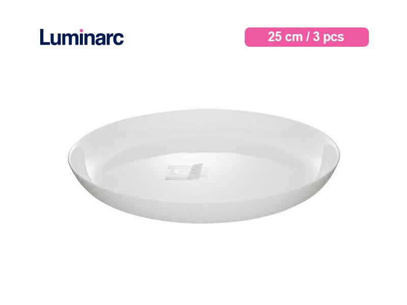 Luminarc Piring Makan Diwali Structure Dinner Plate 25 Cm Shells / 3 pcs