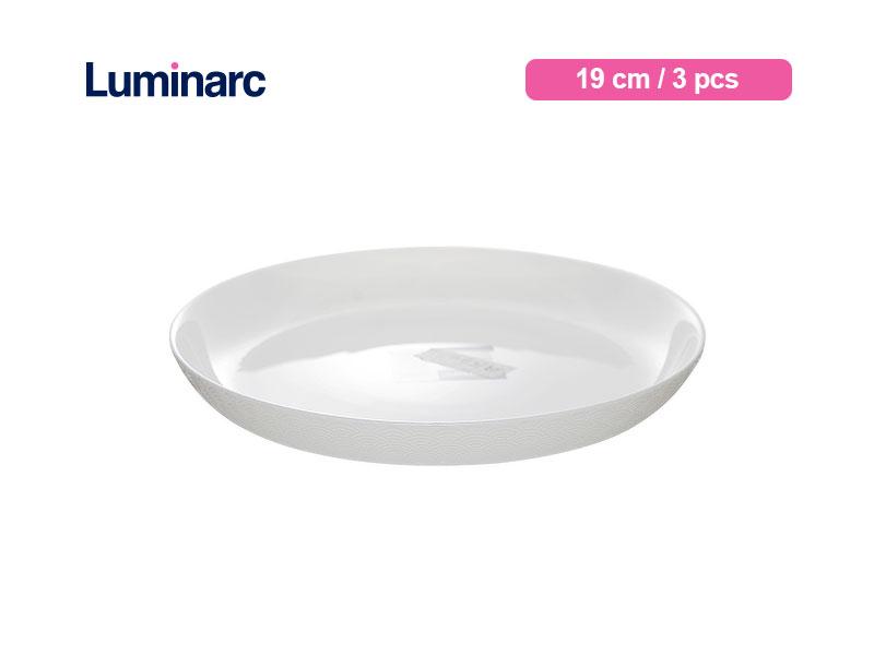 Luminarc Piring Kue Diwali Structure Dessert Plate 19 Cm Shells / 3 pcs