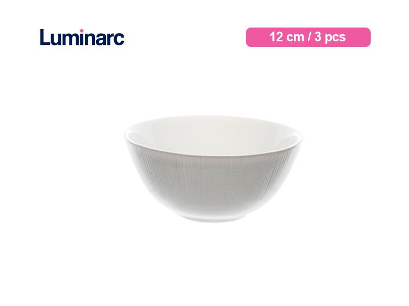 Luminarc Mangkok Kecil Diwali Structure Bowl 12 Cm Lines / 3 pcs