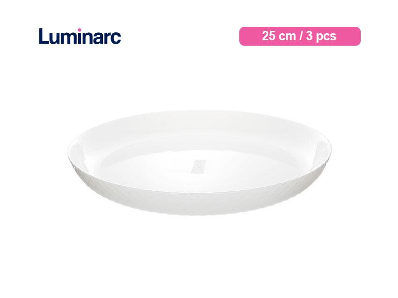 Luminarc Piring Makan Diwali Structure Dinner Plate 25 Cm Precious / 3 pcs