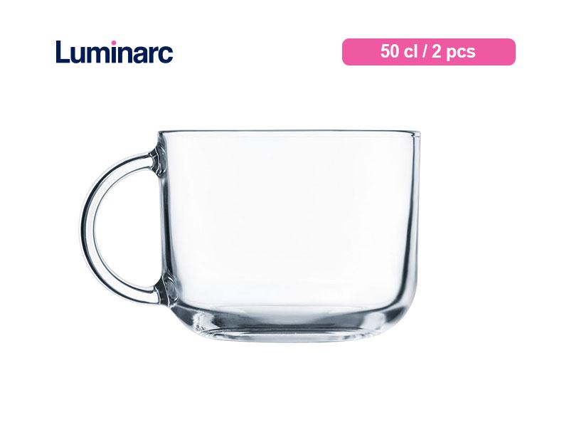 Luminarc Gelas Minum Bertangkai Troquet Jumbo Mug 50 Cl / 2 pcs