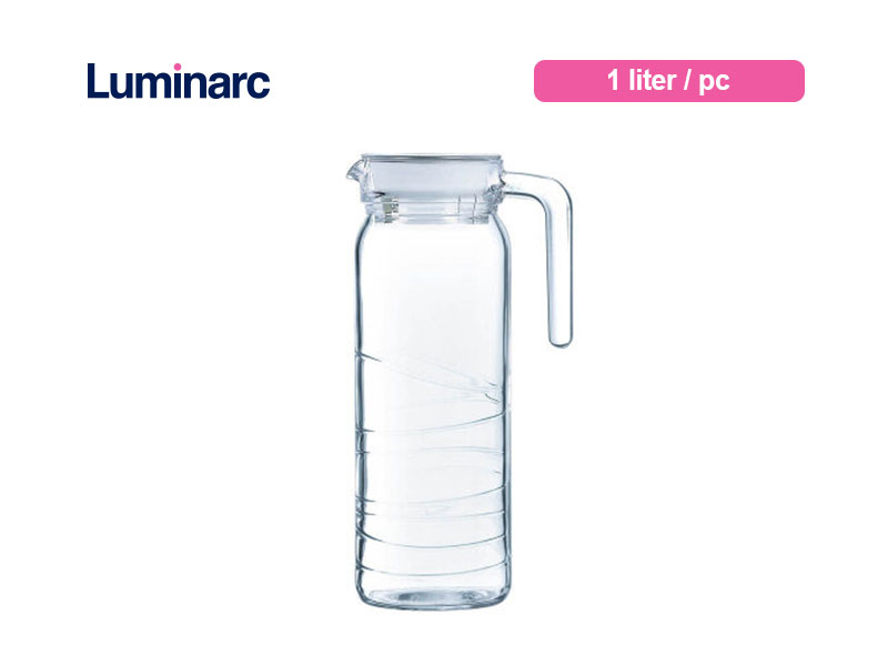 Luminarc Teko Air Minum Dona Jug 1 Ltr Circle / pc