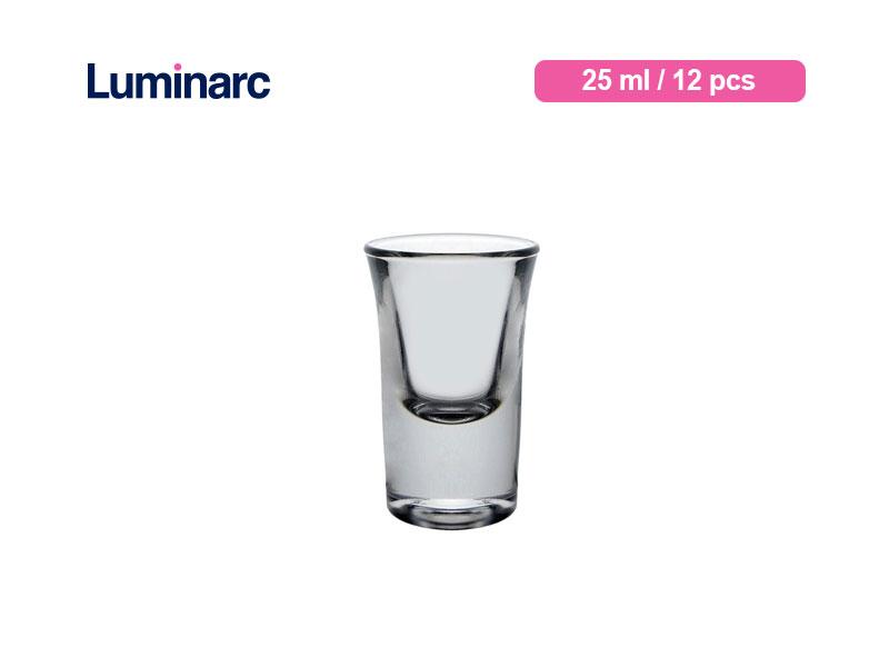 Luminarc Gelas Sloki Hot Shot 2.5 Cl / 12 Pcs